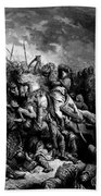 Richard I The Lionheart In Battle At Arsuf In 1191 1877 Bath Towel
