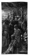 Richard I The Lionheart Massacres Captives In Reprisal 1877 Bath Towel