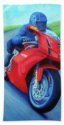 Riding The Highlands - Ducati 999 Bath Towel