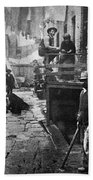 Riis: Bandits Roost, 1887 Bath Towel