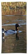 Ring Necked Duck Bath Towel