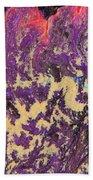 Rising Energy Abstract Painting Bath Sheet by Julia Apostolova