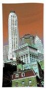 Rising High - New York Wall Street Skyline Bath Towel