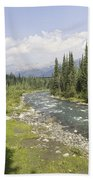 River In Denali National Park Bath Towel