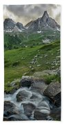 River In The French Alps Bath Towel