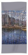 River Landscape Nikolai Petrovich Bogdanov-belsky Bath Towel