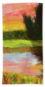 River Sunset Hand Towel