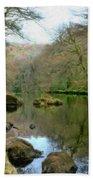 River Teign - P4a16010 Bath Towel