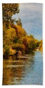 River Thames At Staines Bath Towel