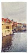 River Vltava Bath Towel
