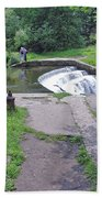 River Wye Weir Bath Towel