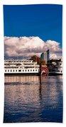 Riverboats Of Sacramento Bath Towel