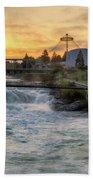 Riverfront Park Sunrise Bath Towel
