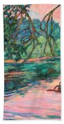 Riverview At Dusk Bath Towel