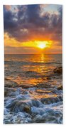 Riviera Beach Sunrise  Bath Towel