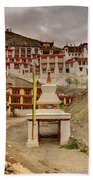 Rizong Monastery Ladakh Jammu And Kashmir India Bath Towel
