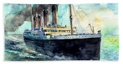 Rms Titanic White Star Line Ship Bath Towel
