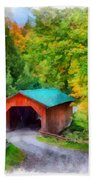 Road To The Covered Bridge Bath Towel