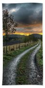 Road To The Sunset Bath Towel