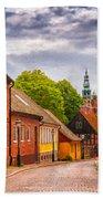 Roads Of Lund Digital Painting Bath Towel