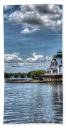 Roanoke River Lighthouse No. 2a Bath Towel