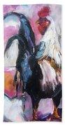Roanoke Rooster Painting Bath Towel