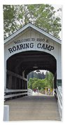 Roaring Camp Covered Bridge Bath Towel