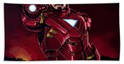 Robert Downey Jr. As Iron Man  Bath Towel
