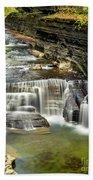 Robert H. Treman State Park Gorge Upper Falls Bath Towel