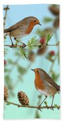 Robins On Larch Bath Towel