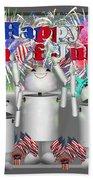 Robo-x9 Celebrates Freedom Bath Towel