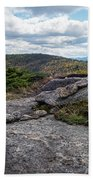 Rock Boundaries On Casecade Mountain Keene Ny New York Bath Towel