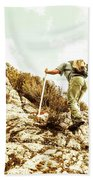 Rock Climbing Mountaineer Bath Towel