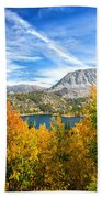 Rock Creek Lake Fall Panorama Bath Towel
