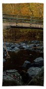 Rock Creek Park Bridge Bath Towel by Ed Clark