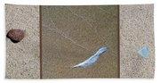 Rock Feather Glass Bath Towel