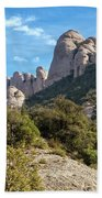 Rock Formations Montserrat Spain II Bath Towel