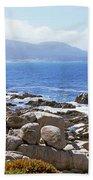 Rock Formations On The Coast, 17-mile Bath Towel