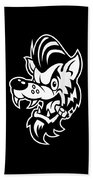 Rockabilly Wolf Head Bath Towel