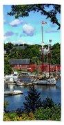 Rockport Harbor Bath Towel