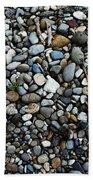 Rocks And Sticks On The Beach Bath Towel