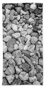 Rocks From Beaches In Black And White Bath Towel