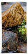 Rocks In The Creek Bath Towel