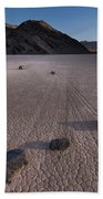 Rocks On The Racetrack Death Valley Bath Towel