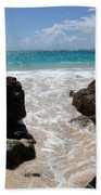 Rocky Beach In The Caribbean Bath Towel