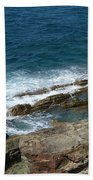 Rocky Coastline Bath Towel