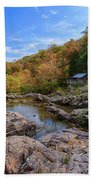 Rocky Falls Near Klepzig Mill Bath Towel