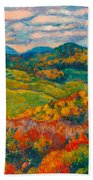 Rocky Knob In Fall Bath Towel
