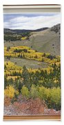 Rocky Mountain Autumn Picture Window View Bath Towel