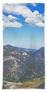 Rocky Mountain National Park Panoramic Bath Towel